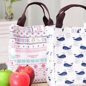 Handbags - Loady girl Canvas Insulated Lunch Bag Tote